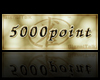 5000ポイント