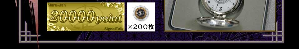 20000point×200枚