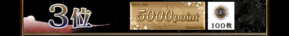 3位 5000point 100枚