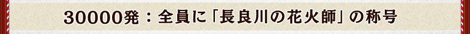 30000発:全員に「長良川の花火師」の称号