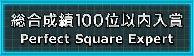 総合成績100位以内入賞「Perfect Square Expert」