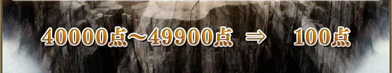 40000点~49900点⇒100点