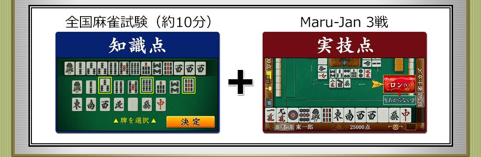 全国麻雀試験(約10分)知識点Maru-Jan 3戦実技点