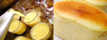 窯だしプリンと窯だしチーズケーキの食べ比べセット