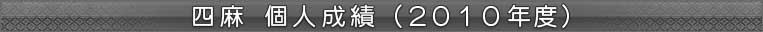四麻 個人成績(2010年度)