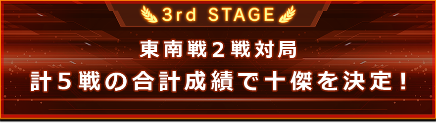 3rd STAGEの説明