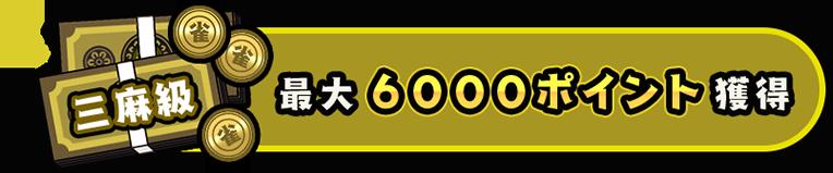 最大6000ポイント