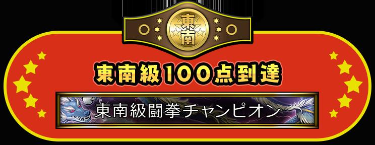 東南級100点到達 東南級闘拳チャンピオン