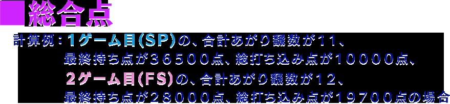 総合点の計算例