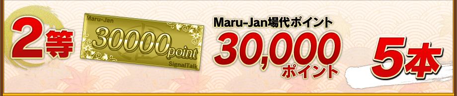 2等:Maru-Jan場代ポイント30,000ポイント5本