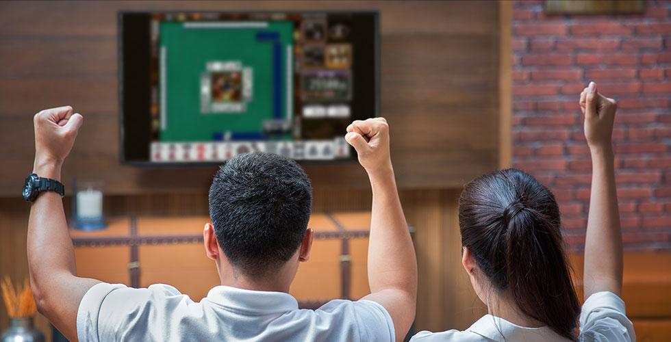 大画面テレビでプレイ