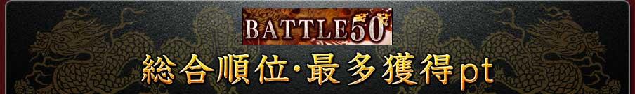 BATTLE50 総合順位・最多獲得pt