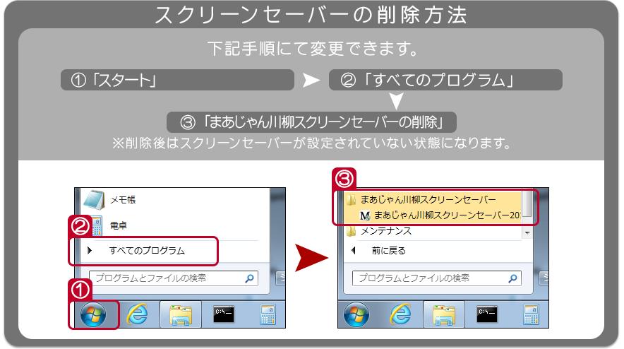 スクリーンセーバーの削除方法